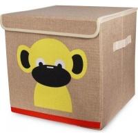 Animal Canvas Storage Box - Monkey Photo