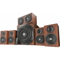 Trust Vigor 5.1 5.1channels 75W Black Wood speaker set 5.1 150W RMS remote control 3 x 3.5mm Wood/black Photo