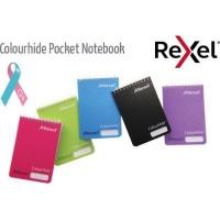 Rexel Colourhide Feint Ruled Pocket Notebook Photo
