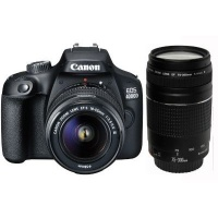 Canon EOS 4000D Digital SLR Camera Double DC Kit - EF-S 18-55mm f/3.5-5.6 IS 2 and EF75-300 f/4-5.6 3 Lens Photo
