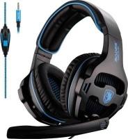 Sades 810 Gaming Headphones with Mic - Black & Blue Photo