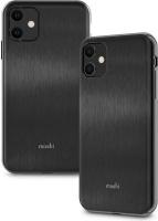 Moshi iGlaze mobile phone case 15.5 cm Skin Black Slim Hardshell Case for iPhone 11 Armour Photo