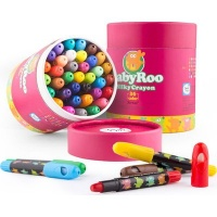JarMelo Baby Roo Silky Washable Crayons: 36 Crayons Photo