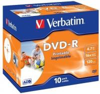 Verbatim - Printable DVD-R 4.7GB Jewel Case - 10 Pack Photo