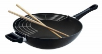 Scanpan - Classic Wok With Rack and Sticks - 28cm Photo