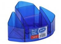 Bantex Desk Organiser - Clear Blue Photo