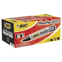 Bic 2300 Permanent Marker Chisel Point - Black Photo