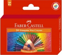 Faber-Castell 24 Triangular Wax Crayons Photo