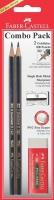 Faber-Castell Carded 2 HB pencils Met & Sharp L & Eraser Photo