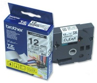 Brother TZ-131 12mm x 8m Black on Clear Laminated Tape Photo