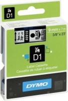 Dymo D1 Standard 9mm x 7m Black on Clear Label Cassette Photo