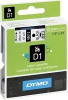 Dymo D1 Standard 12mm x 7m Black on White Label Cassette Photo