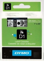 Dymo D1 Standard 24mm x 7m Black on Clear Label Cassette Photo