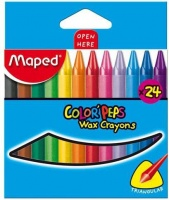 Maped Color'Peps Triangular Wax Crayons 24's Photo