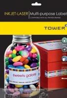 Tower: W106 Multi Purpose Inkjet-Laser Labels - Box of 100 Sheets Photo