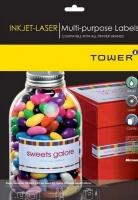 Tower W234 Multi Purpose Inkjet-Laser Labels - Box of 100 Sheets Photo
