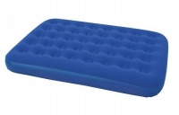 Bestway - Flocked Double Airbed - Blue Photo