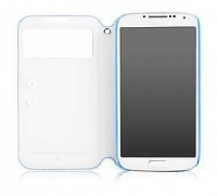 Samsung Capdase Folder Case Sider ID Baco for Galaxy S4 - White & Blue Photo