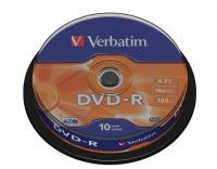 Verbatim 4.7GB DVD-R Matt Silver Spindle - Box of 10 Photo