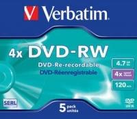 Verbatim DVD-RW Matt Silver 4X 4.7GB - Jewel Case Photo