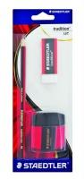 Staedtler Tradition Set - Tradition Pencil & Tub Sharpener & Eraser Photo