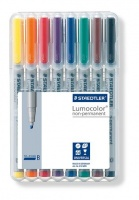 Staedtler Lumocolor 8 Non-Permanent Broad Markers Photo