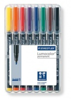 Staedtler Lumocolor 8 Permanent Broad Markers Photo