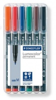 Staedtler Lumocolor 6 Permanent Medium Markers Photo