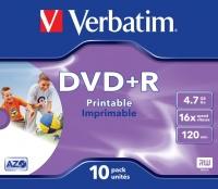 Verbatim DVD R Wide Inkjet Printable ID Brand Photo