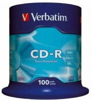 VERBATIM - 700MB - CD-R - EXTRA PROTECTION NON AZO SPINDLE - Photo