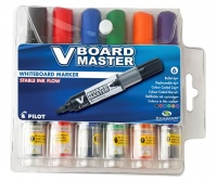 Pilot V Board Master Whiteboard Markers - Wallet of 6 Colours Photo