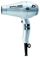 Parlux 3800 Eco Ceramic & Ionic 2100W Hair Dryer - Silver Photo