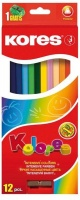 Kores Kolores 12 Triangular Coloured Pencils and 1 Sharpener Photo