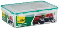 Addis - Rectangle 4 Sided Clip Lock Saver With Divisions - 2.8 Litre Photo