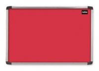 Nobo Elipse Notice Board - Aluminium Frame - Red Photo