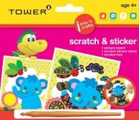 Tower Kids Scratch & Sticker - Elephant Photo