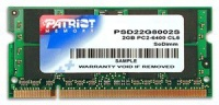 Patriot DDR2-800MHz Notebook Memory - 2GB Photo