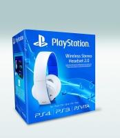 Sony Playstation White Wireless Stereo Headset Photo