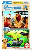 Educa - Disney Animal Friends Wooden Puzzles - 2x50 Piece Photo