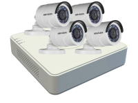 Hikvision 1MP Turbo HD 4 Channel Complete CCTV Kit Photo