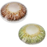 Lilhe Pack of 2 Pairs of Contact Lenses - Brown & Green Photo