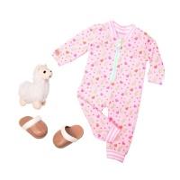 Our Generation Regular Pyjama Outfit - Llama Llullabies Photo