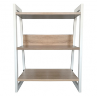 3-Tier Industrial-Style Bookcase Free Standing Bookshelf Display Unit Photo