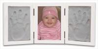 Babycraft White Three Frame and Clay Handprint Kit Photo