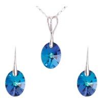 K Crystals Swarovski Element Oval Set Photo