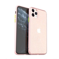 Case Candy Transparent TPU Glitter Cover for iPhone 11 Pro Max - Pink Photo