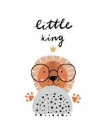 Wall Décor Canvas Art Prints for Baby Nursery: Little King Lion Photo