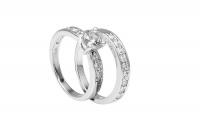 Art Jewellers - 925 Sterling Silver Fancy Multi C.Z Ring Twin Set Photo