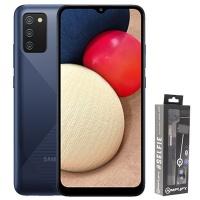 Samsung A02s DS Blue Selfie Stick Cellphone Photo