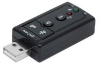 Manhattan HiSpeed USB 3D 7.1 Sound Adapter Compact High Speed USB 2.0 External Sound Card Photo